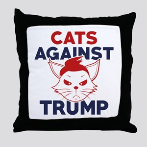 Cats Against Trump Throw Pillow
