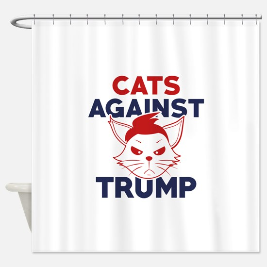 Cats Against Trump Shower Curtain