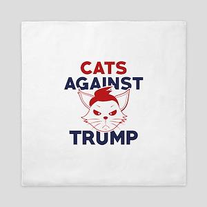 Cats Against Trump Queen Duvet