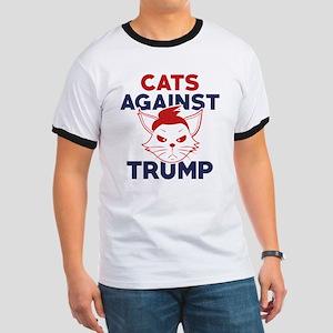 Cats Against Trump Ringer T