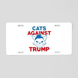 Cats Against Trump Aluminum License Plate