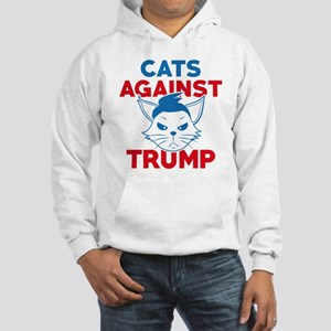 Cats Against Trump Hooded Sweatshirt