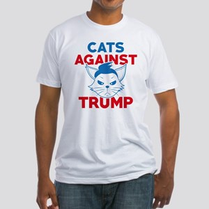 Cats Against Trump Fitted T-Shirt