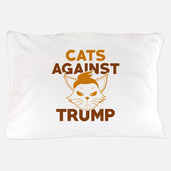 Cats Against Trump Pillow Case