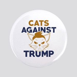 "Cats Against Trump 3.5"" Button"