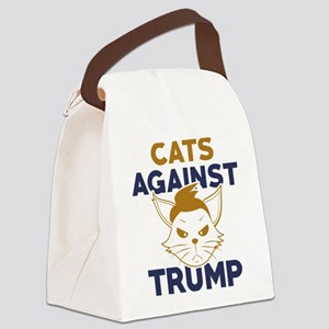 Cats Against Trump Canvas Lunch Bag