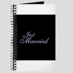 Just Married - Fancy Blue Journal