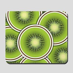 Funky kiwi fruit slices Mousepad