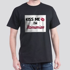 Kiss me I'm Romanian Dark T-Shirt