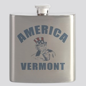 America State Vermont Designs Flask