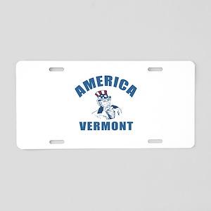 America State Vermont Desig Aluminum License Plate