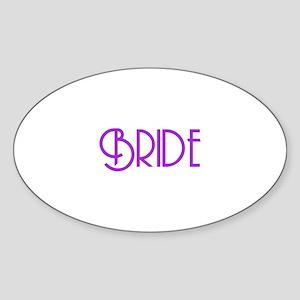Bride - Purple Andes Oval Sticker
