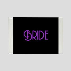 Bride - Purple Andes Rectangle Magnet