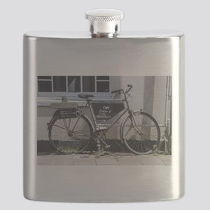 Vintage Bicycle with advertising sign Flask