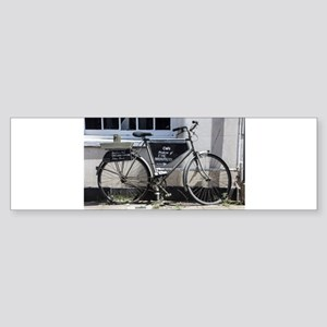 Vintage Bicycle with advertising si Bumper Sticker