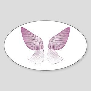 Christmas Fairy Oval Sticker