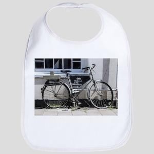Vintage Bicycle with advertising sign Bib