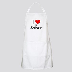 I Love My Butcher BBQ Apron