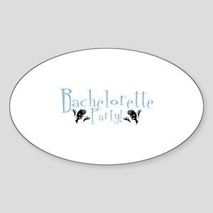 Bachelorette Party - Retro A- Oval Sticker
