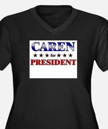 CAREN for president Women's Plus Size V-Neck Dark