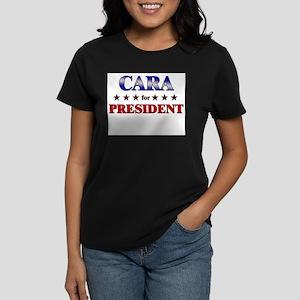 CARA for president Women's Dark T-Shirt