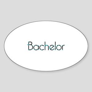 GB - Bachelor Oval Sticker