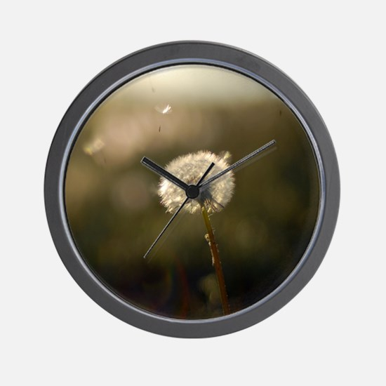 Dandelion Wish Wall Clock