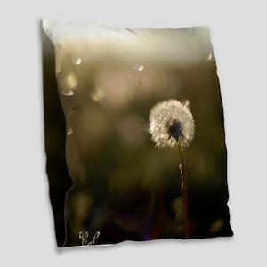 Dandelion Wish Burlap Throw Pillow