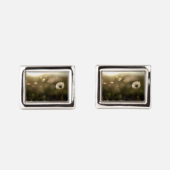 Dandelion Wish Rectangular Cufflinks