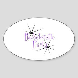 Bachelorette Party - Retro St Oval Sticker