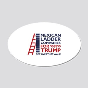 Mexican Ladder Companies 22x14 Oval Wall Peel