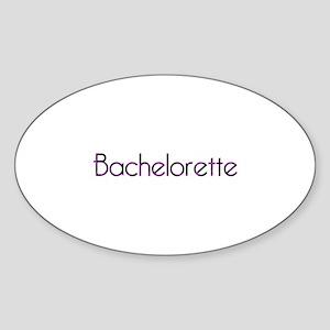 PB - Bachelorette Oval Sticker