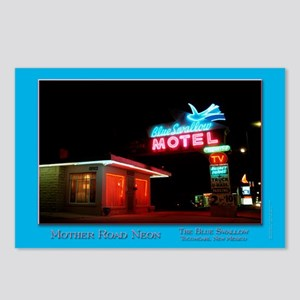 Blue Swallow Neon Postcards (Package of 8)