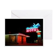 Blue Swallow Neon Greeting Cards (Pk of 10)