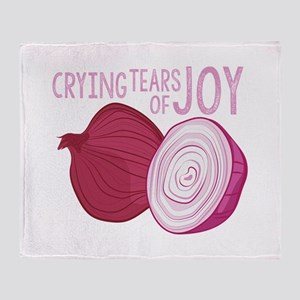 Tears Of Joy Throw Blanket