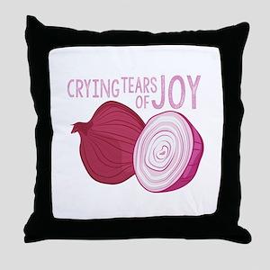 Tears Of Joy Throw Pillow