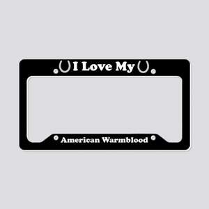I Love My American Warmblood Horse License Plate H