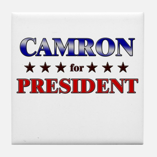 CAMRON for president Tile Coaster