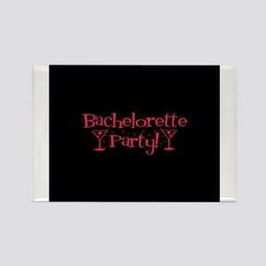 Bachelorette Party - Red Mart Rectangle Magnet