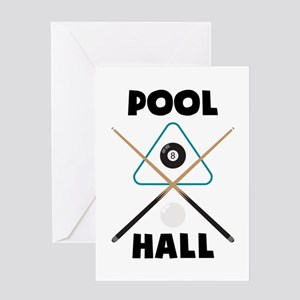 Pool Hall Greeting Cards