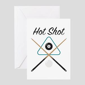 Billiards Hot Shot Greeting Cards