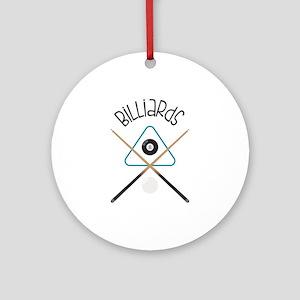 Billiards Round Ornament