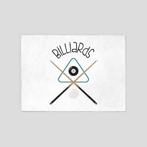 Billiards 5'x7'Area Rug