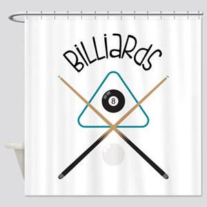 Billiards Shower Curtain