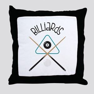 Billiards Throw Pillow