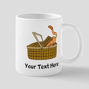 Cat In Picnic Basket (Custom) Mugs