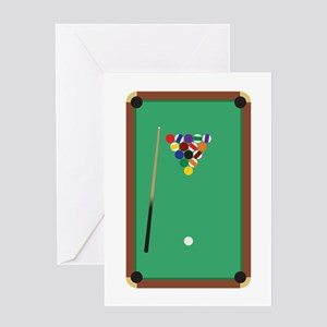 Billiards Table Greeting Cards
