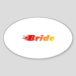 Bride - Blazed Oval Sticker