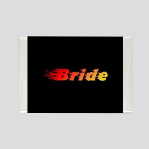 Bride - Blazed Rectangle Magnet