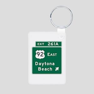 Daytona Beach, FL Aluminum Photo Keychain